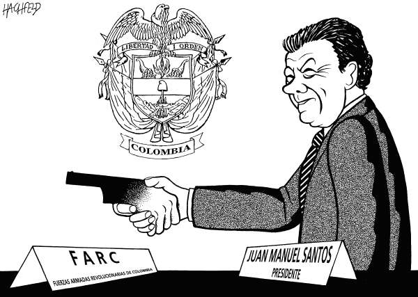 118391 600 Santos  FARC cartoons