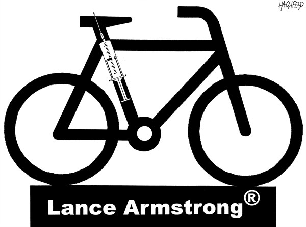 Rainer Hachfeld - Neues Deutschland, Germany - Lance Armstrong logo - English - bicycle named Lance Armstrong®