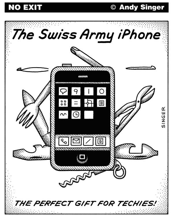 72044 600 Swiss Army iPhone cartoons