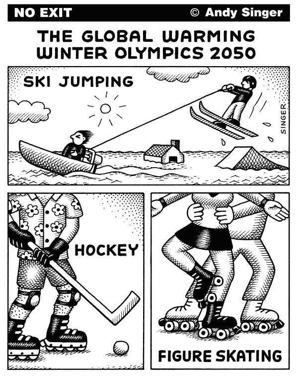 75407 600 Global Warming Winter Olympics 2050 cartoons