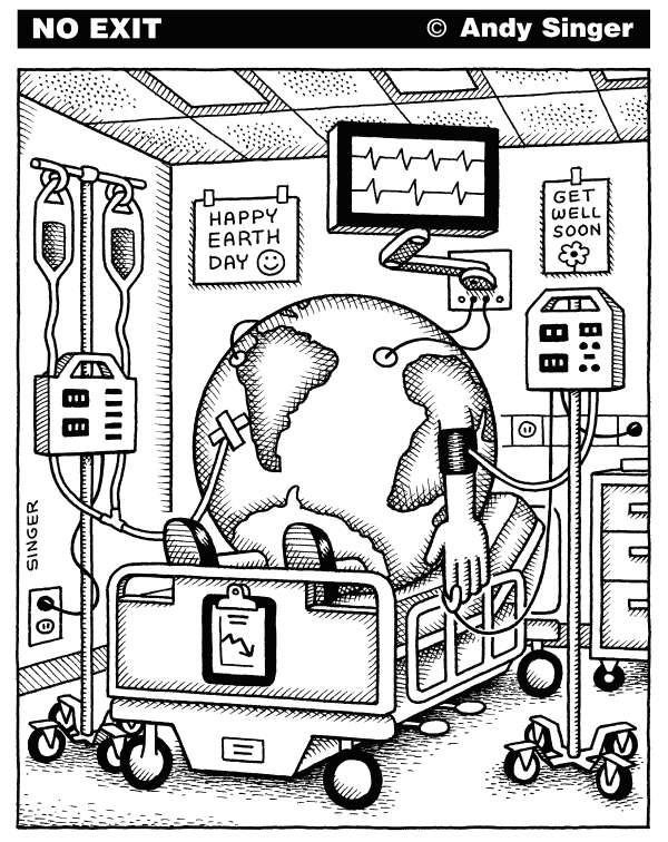 77141 600 Earthday in the Hospital cartoons