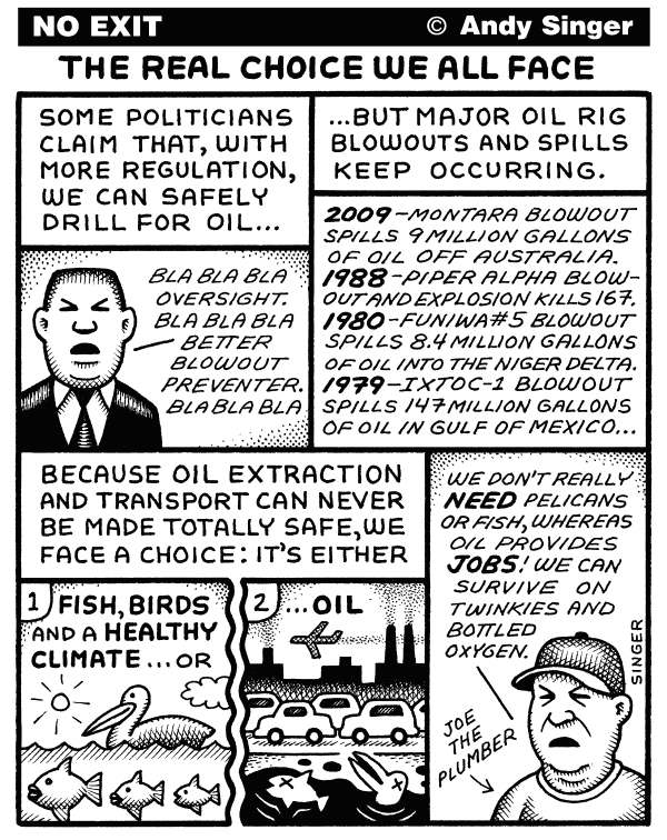 80646 600 Our Choice about Oil Drilling cartoons