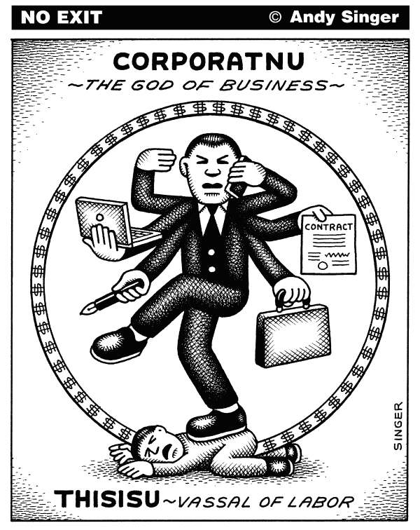81483 600 Corporatnu the god of business cartoons