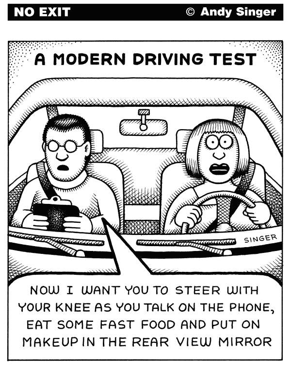 82829 600 Modern Driving Test cartoons