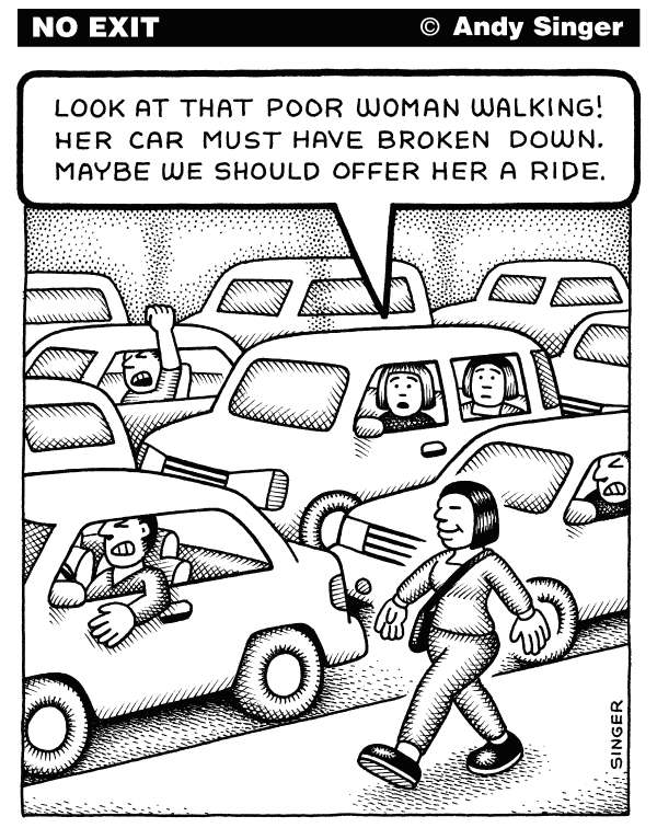 83708 600 Driver View of Pedestrians cartoons