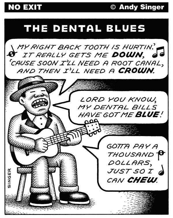 91311 600 Dental Blues cartoons