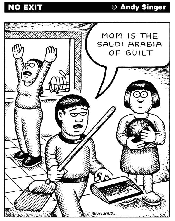 92690 600 Mom Saudi Arabia of Guilt cartoons