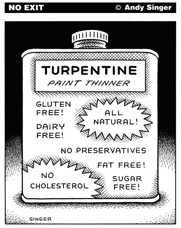 93242 600 Food Labeling Turpentine cartoons