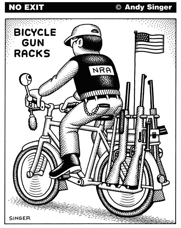 95140 600 Bicycle Gun Racks cartoons