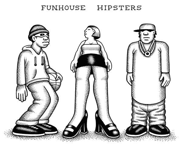 97198 600 Funhouse Hipsters cartoons
