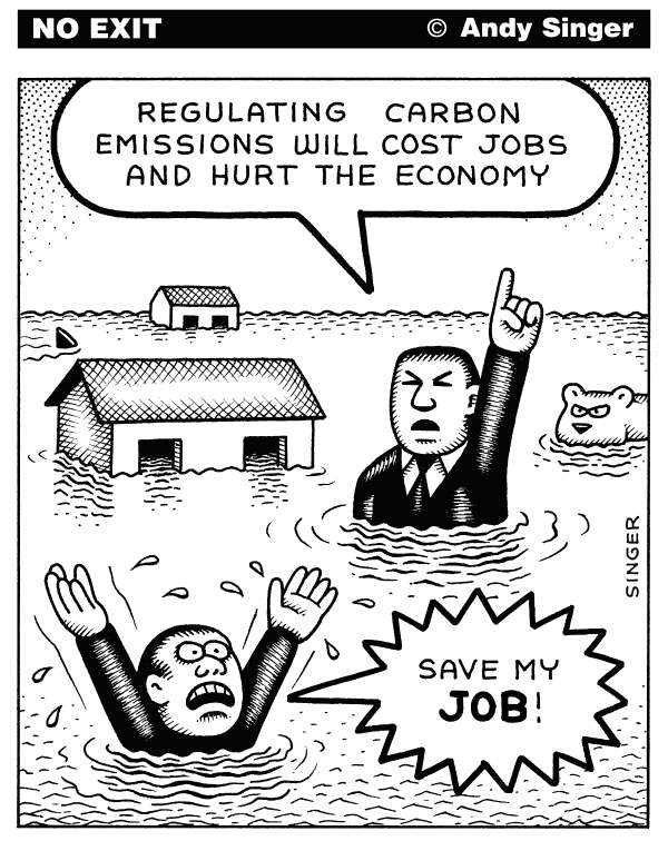 99090 600 Regulating Carbon Costs Jobs cartoons