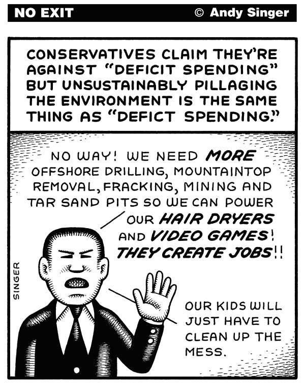 99092 600 Environmental Deficit Spending cartoons