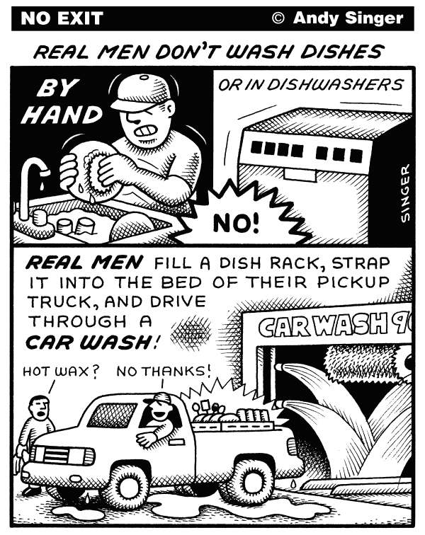 101692 600 Real Men Wash Dishes cartoons