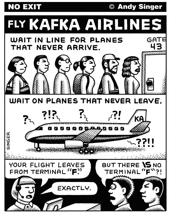 110800 600 Kafka Airlines cartoons