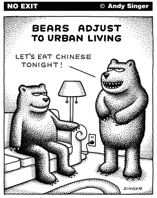 119149 600 Bears Adjust to Urban Living cartoons