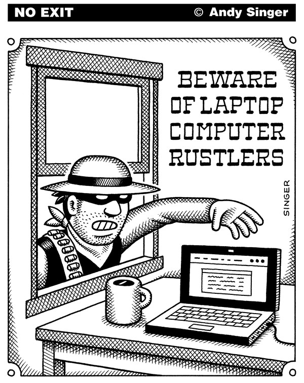 119899 600 Laptop Computer Rustlers cartoons