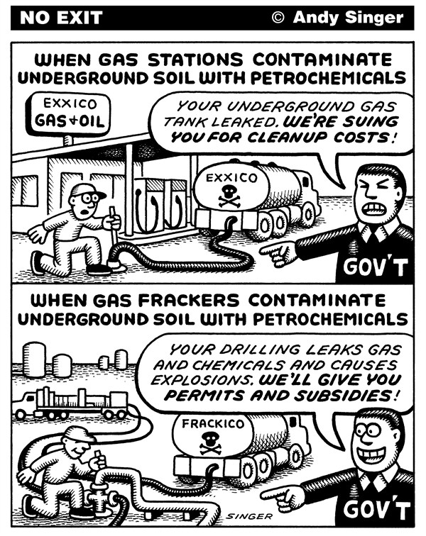 122619 600 Gas Station Brownfields vs Fracking cartoons