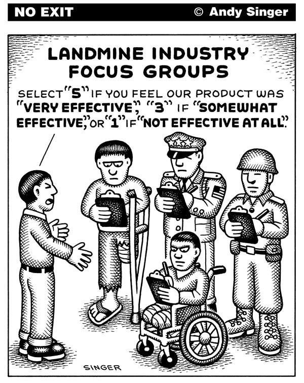 127339 600 Landmine Industry Focus Group cartoons