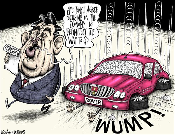Brian Adcock - The Scotland - Rover and the British Economy - English - rover economy tony blair blair gordon brown wump uk election british election