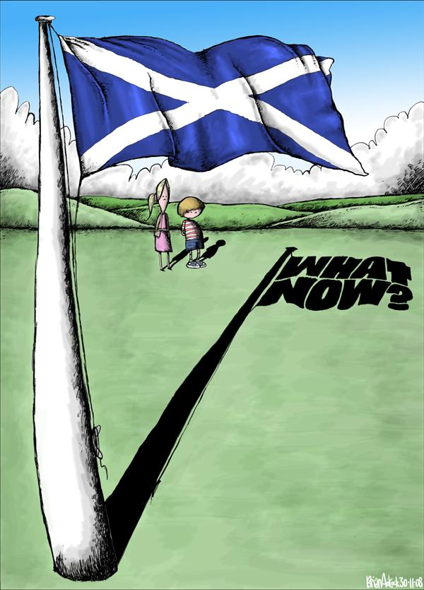 Brian Adcock - The Scotland - What Now for Scotland, the Union or Independence - English - what now,what now,scotland,saltire,flag, independence,union,the union,st andrews day