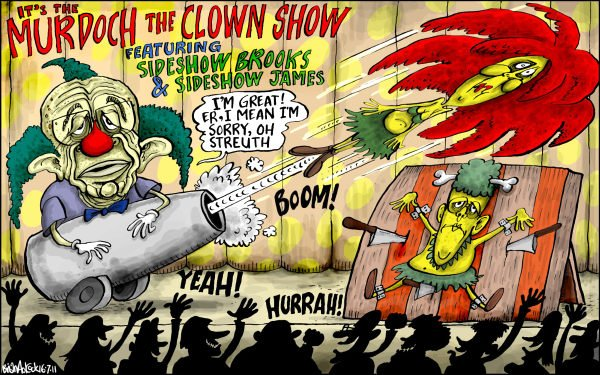 96368 600 Murdoch the Clown cartoons
