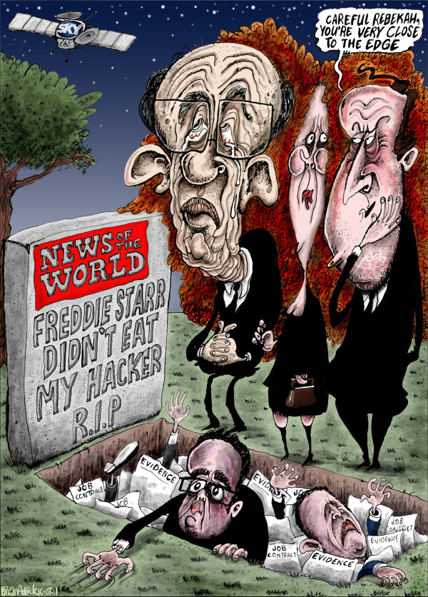96370 600 Death of The News Of The World Newspaper cartoons