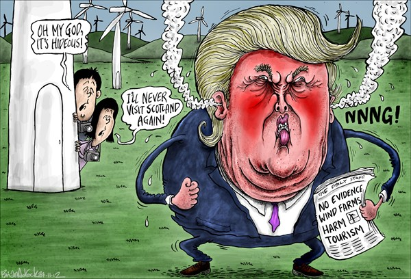 123315 600 Trumps Battle With Scottish Wind Farms cartoons