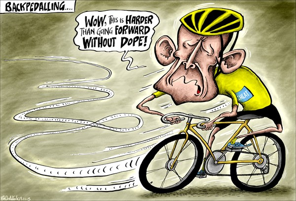 125910 600 Lance Armstrong Backpedalling cartoons