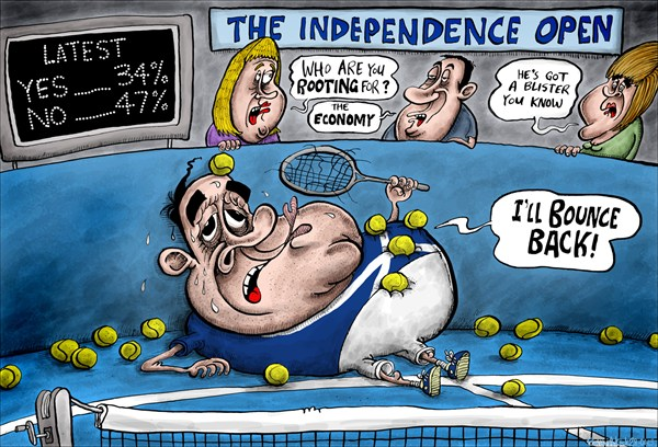The Independence Open © Brian Adcock,The Scotland,the independence open, alex salmond, andy murray, murray defeat, australian open, SNP, independence popularity, independence support, economy,