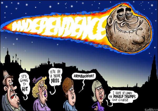Brian Adcock - The Scotland - Something Big Coming Scotland's Way - English - asteroid, scotland, SNP, alex salmond,independence, independence referendum, meteor,