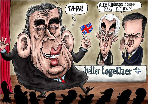 131634 600 Gordon Brown Returns to Help UK Stay Together cartoons