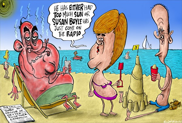 135097 600 Susan Boyle Supports the United Kingdom cartoons