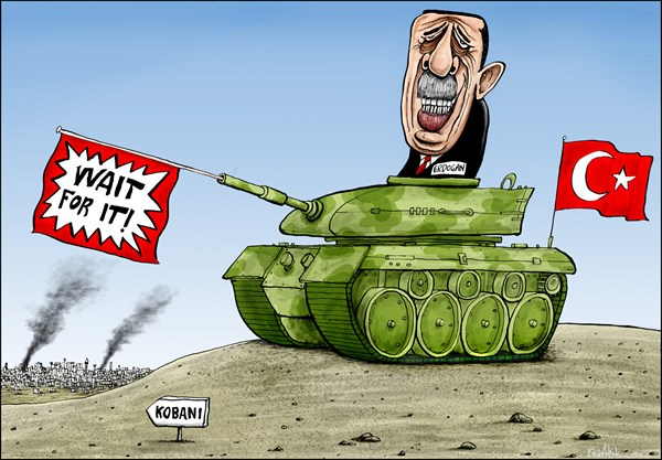 Turkey Reluctant to Fight Islamic State © Brian Adcock,The Prague Post,Islamic state, isis, is, isil, erdogan, turkey, Iraq, Syria, tank, islam, Kobani, wait for it,
