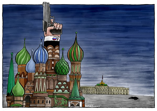 Murder of Boris Nemtsov © Brian Adcock,The Independent,Russia, boris nemtsov, st basils cathedral, kremlin, Moscow, putin, murder, red square,