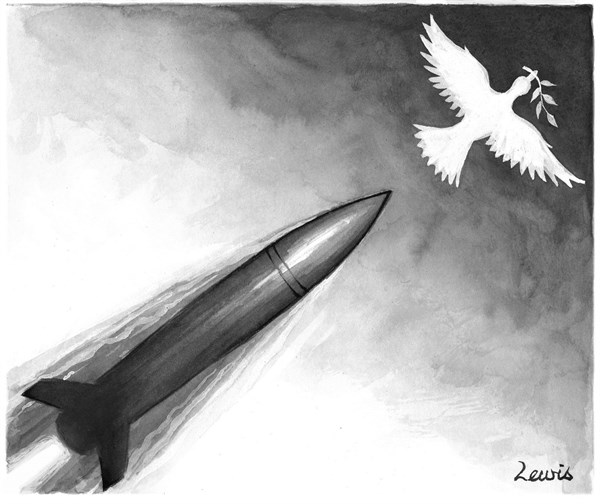 Peter Lewis - Australia, Politicalcartoons.com - Passenger plane brought down by Ukraine missile - English - Ukraine, russia, war, missile, plane, MH17, Malaysian Airlines
