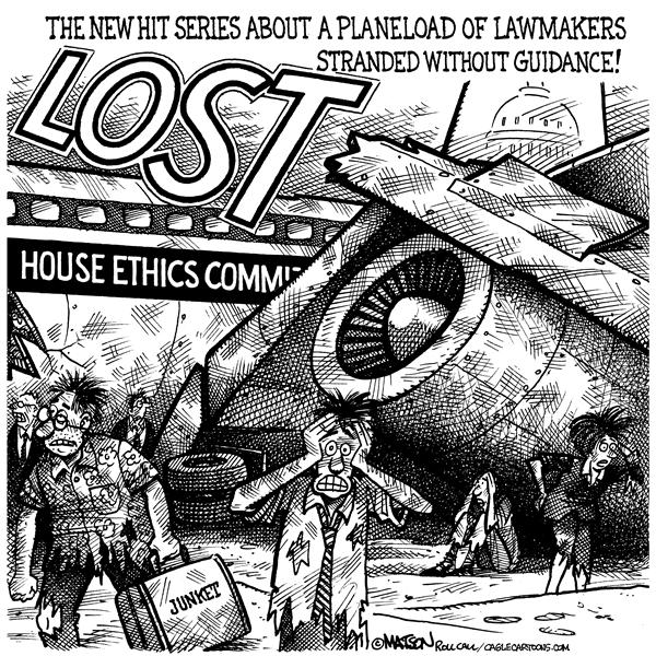 RJ Matson - Roll Call - House Ethics Committee Plane Crash - English - Ethics, House of Representatives, Congress, Congressional Junkets, House Ethics Committee, Lost