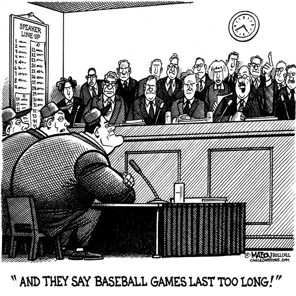 RJ Matson - Roll Call - Congressional Hearings Last Too Long - English - Baseball, Steroids, Hearings, Congress