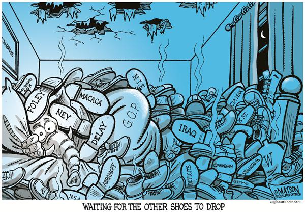 30903 600 Republicans Wait For Other Shoes To Drop cartoons