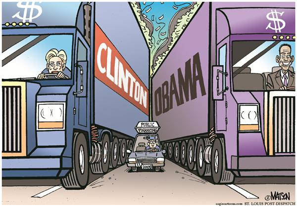 36628 600 Clinton Obama Fundraising cartoons