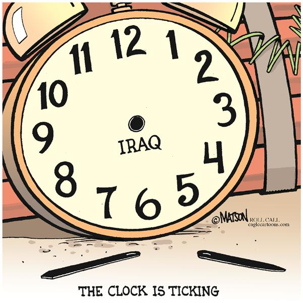 37670 600 Iraq Clock Is Ticking cartoons