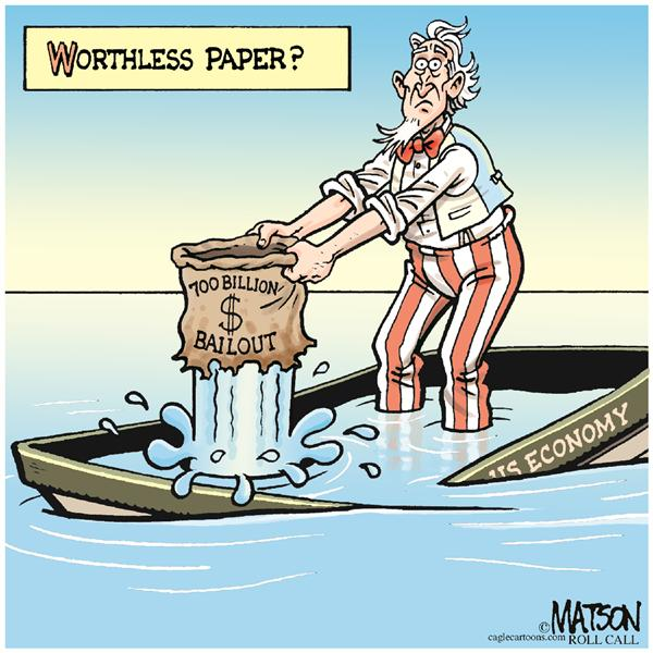 56353 600 Worthless Paper? cartoons