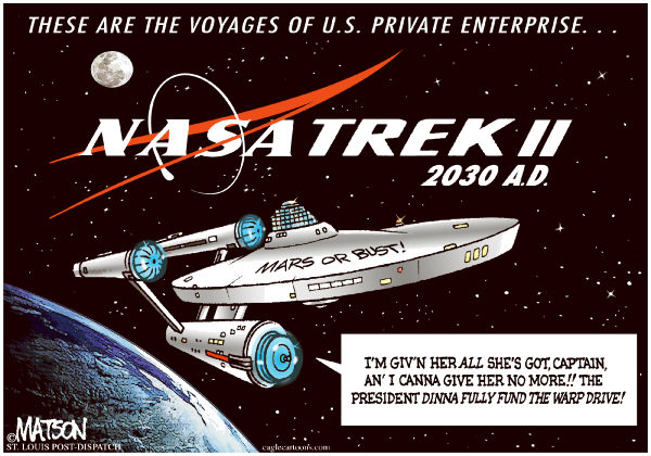 77662 600 NASA Trek Voyages of U S  Private Enterprise cartoons