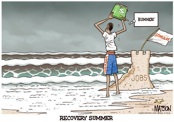 Recovery Summer-COLOR © RJ Matson,Roll Call,Recovery Summer, President Obama, Recession, The Economy, Economic Stimulus, Jobs