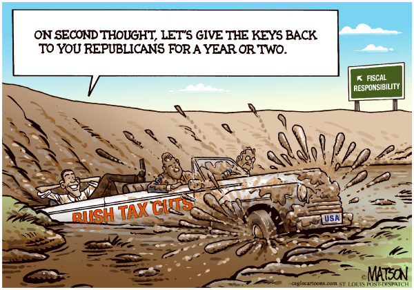 86625 600 Deal To Extend Bush Tax Cuts cartoons