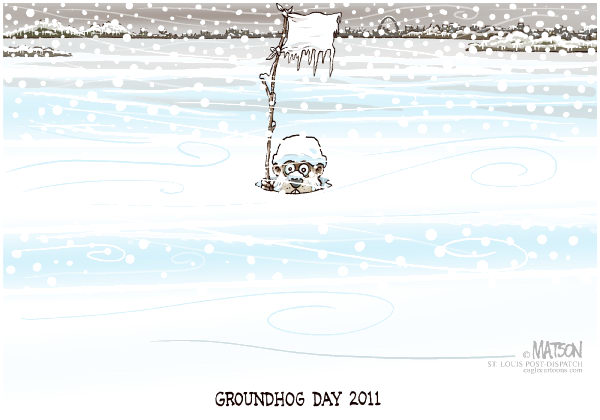 88779 600 Local MOGround Hog Day Snowed Out cartoons