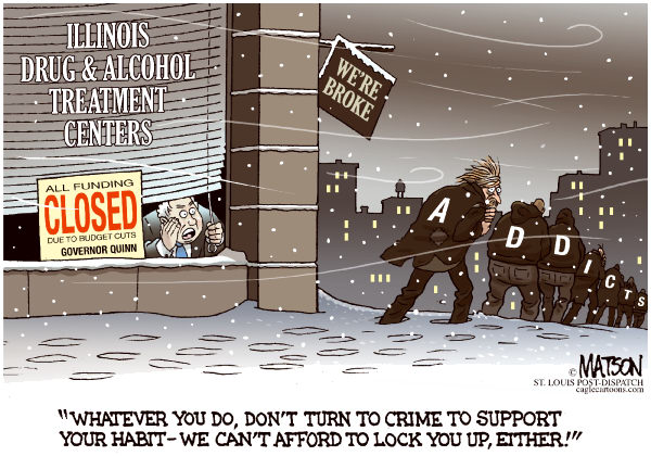 89548 600 Local ILGovernor Quinn Cuts All Drug Treatment Funds cartoons