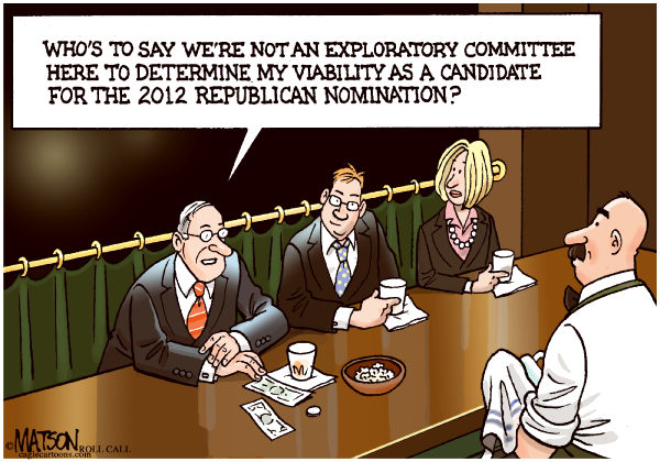 RJ Matson - Roll Call - Another Republican Presidential Exploratory Committee-COLOR - English - Another Republican Presidential Exploratory Committee, 2012 Presidential Election, Republican Party, Republicans, 2012 Republican Party Nomination