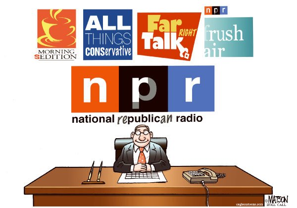 RJ Matson - Roll Call - National Republican Radio-COLOR - English - National Republican Radio, NPR, Republicans, Taxpayers, Liberal Bias, Conservative Bias, Federal Funding
