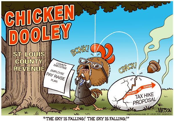97702 600 Local MOStLouis County Executive Exaggerates Budget Shortfall cartoons