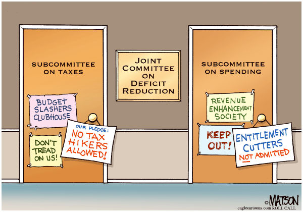 98995 600 Deficit Reduction Subcommittees cartoons